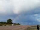 Regenbogenbrücke in den Himmel